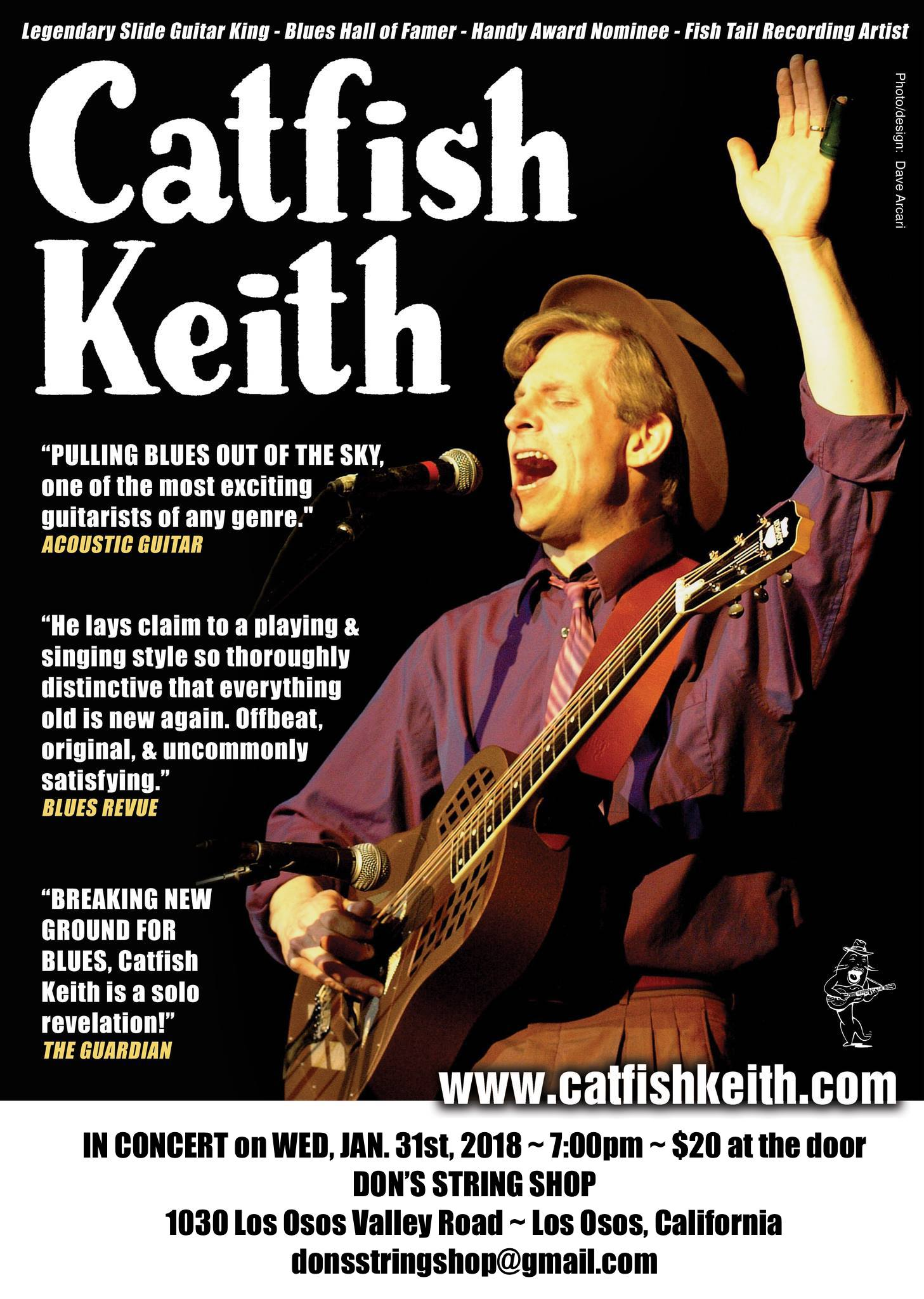 Catfish Keith Poster for Don's String Shop, Jan. 31, 2018